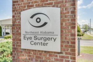 Gadsen Eye Care Associates, Surgery Center sign in Northeast Alabama